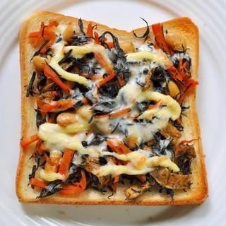ひじきの煮物トースト