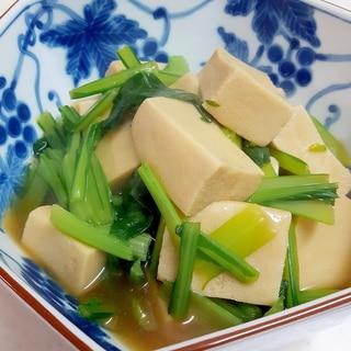 簡単・ヘルシー!(^^)高野豆腐と小松菜のくず煮♪