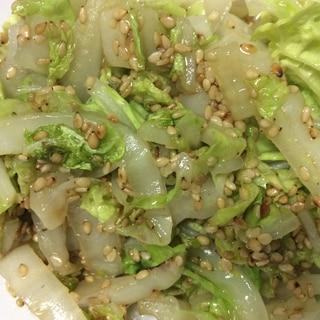 白菜のごま油炒め