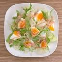 レタス・水菜・ゆで卵のサラダ