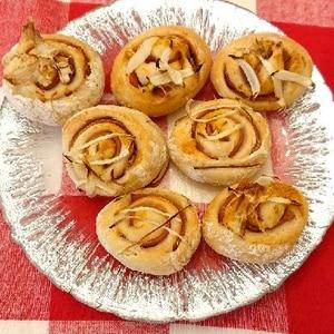 小さなハムマヨ ロールパン(ホームベーカリー)