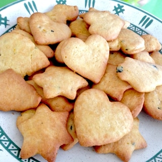 HMで簡単!皮ごと入れるかぼちゃのクッキー