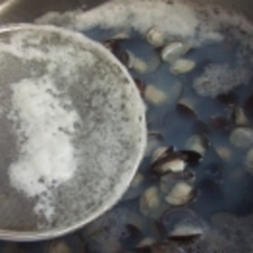 しじみの砂抜き