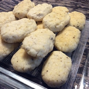 バジルとチーズのヘルシーおから豆腐コロッケ♪