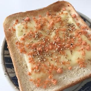 ラー油鮭マヨトースト