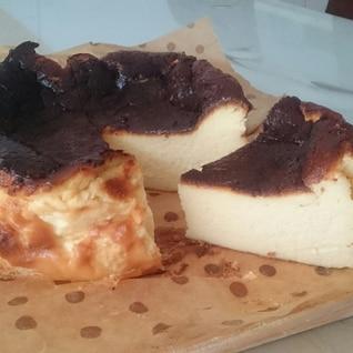 簡単美味しい☆濃厚 米粉 バスク風チーズケーキ