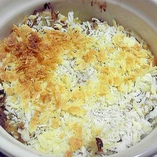 鮭缶を使ったコロッケ風オーブン焼き