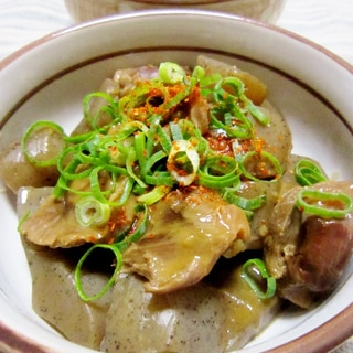 【下処理不要】砂肝とこんにゃくのポン酢煮