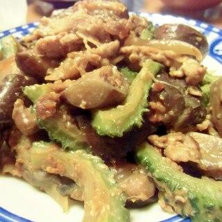 ゴーヤと豚肉の味噌炒め