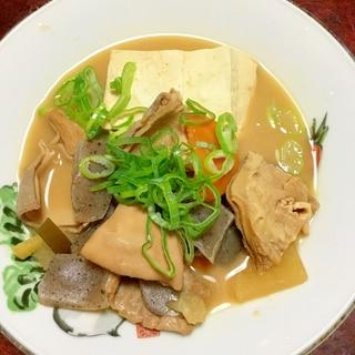 圧力鍋deガツのモツ煮豆腐!
