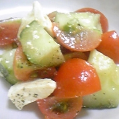 ちょっと残ってたトマトちゃんで~ちょっとだけ作ったの♪ でも、やっぱりもうちょっと食べたかったなぁ~(>_<) ごちさま☆