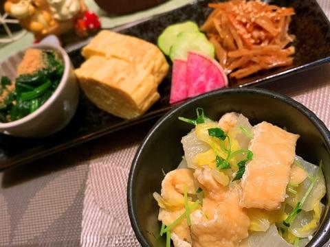 白菜とお揚げのサッと煮