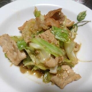 豚肉とキャベツとミョウガの炒め物