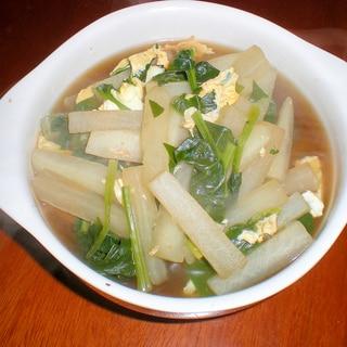 大根・ほうれん草スープ