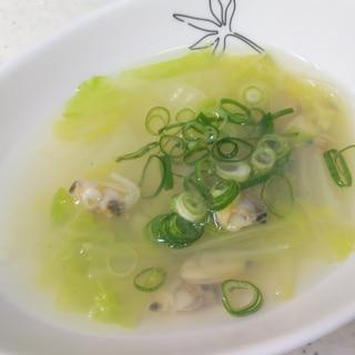 あさりと白菜の中華スープ
