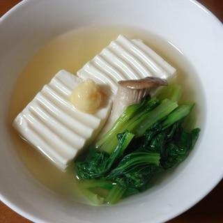 白だしで簡単に!湯豆腐