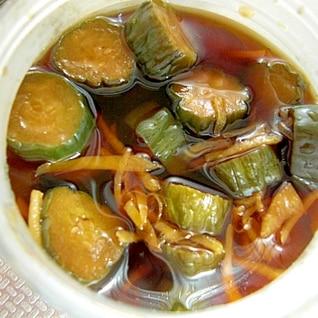 キュウリと生姜の醤油漬け