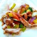 豚野菜味噌炒め