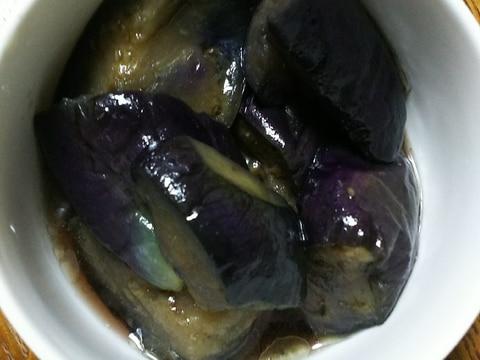冷凍揚げなすで煮浸し(レンジ)