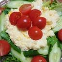 フライパンで簡単にミモザ風サラダ♪