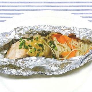 魚と野菜のホイル焼き
