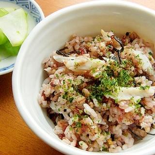 お魚食べてネ!残った焼き魚「いしもち」で混ぜご飯♪
