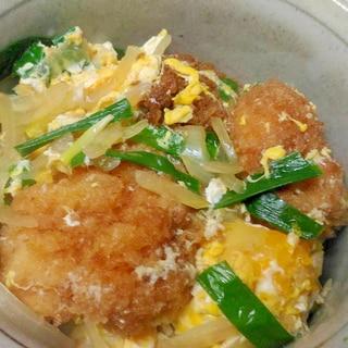 ニラ玉チキンカツ丼
