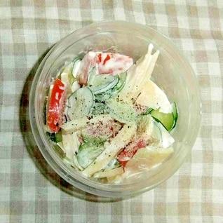 母の日に きゅうりトマトたけのこサラダ