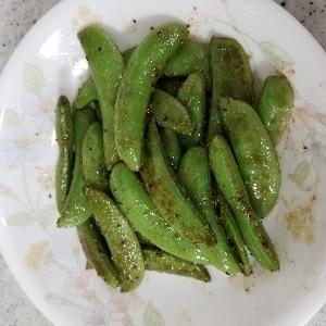 ポリポリ♪スナップえんどうのガーリックマヨ炒め