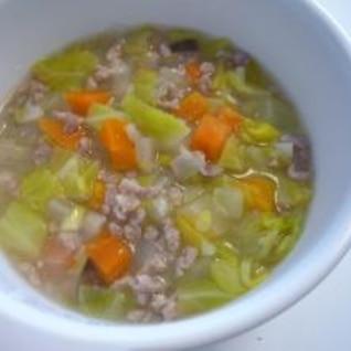 <離乳食>豚肉入り野菜スープ