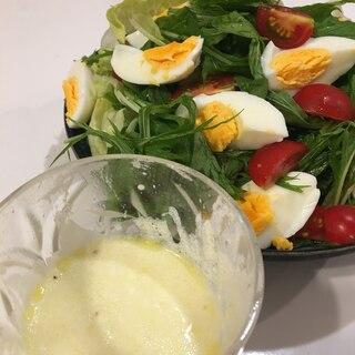 ヨーグルトドレッシングのサラダ