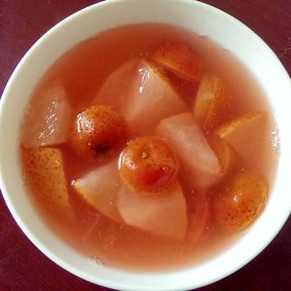 サンザシと梨の中華風デザート(山査梨汁)