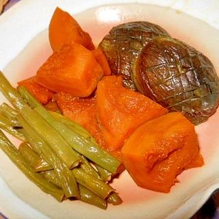 南瓜、インゲン、丸茄子の煮ひたし