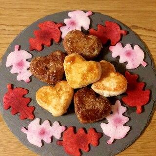 バレンタインに♡ハート型の肉巻きおにぎり