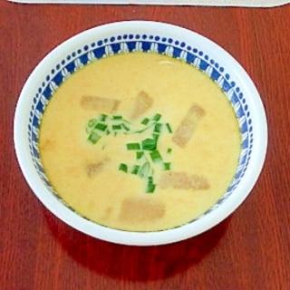 味噌汁の残りで★カレースープ