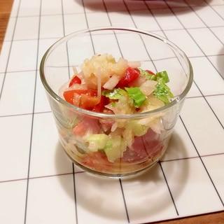 セロリとトマトのチョップドサラダ