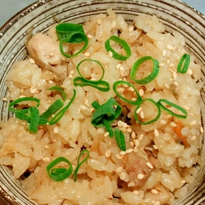 鶏ごぼうの炊き込みご飯♡