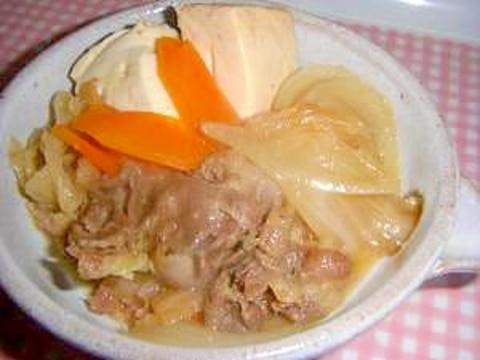 無水☆圧力なべで,時短・簡単!肉豆腐