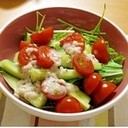 万能塩麹ドレッシング♪の野菜サラダ