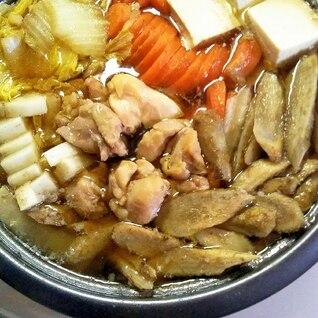 お出汁最高〜♪鶏ごぼう鍋