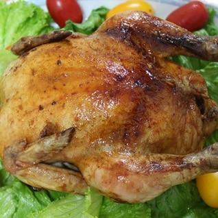丸鶏の照り焼き(クリスマス用和風ローストチキン)