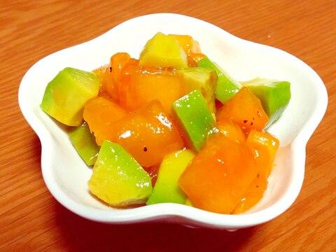 簡単おしゃれに♪アボカドと柿のサラダ☆