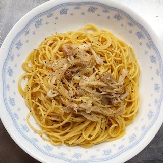 塩分控えめ☆ツナと舞茸のスパゲッティ