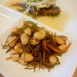 作りおきレシピ♪ きざみ昆布と大豆の煮物