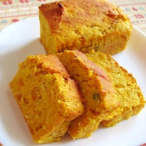 超しっとり♪かぼちゃと豆腐とおからのパウンドケーキ
