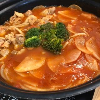 大根丸ごとトマト鍋