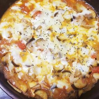 エリンギとなすトマトのチーズ焼き