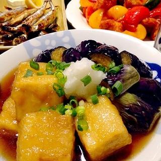 高野豆腐の揚げ煮です☆もっちりトロン~♪の新感覚!