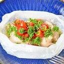 鶏肉のレンチン蒸し焼き*トマト&パセリソース