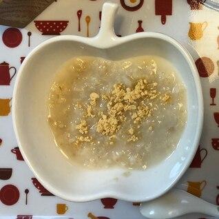 離乳食中期☆オートミールのきな粉ミルク風味